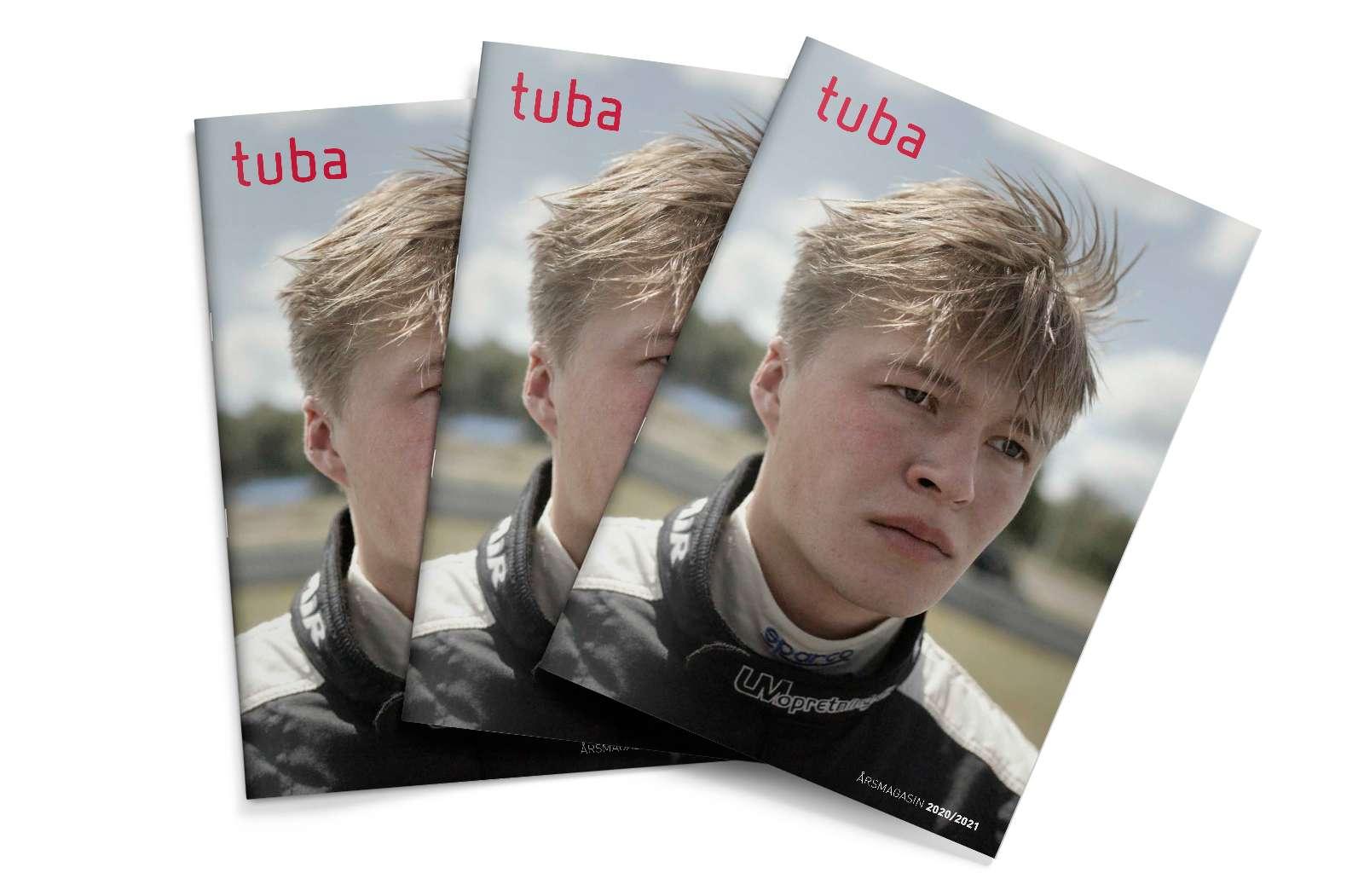 To forsider af TUBAs årsmagasin 2020/2021